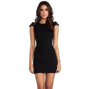 Bardot Studette Black Dress